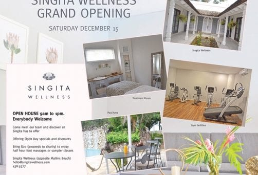 Singita Wellness Grand Opening – everybody welcome