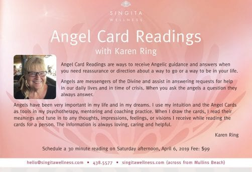 Angel Card Readings with Karen Ring, April 6th