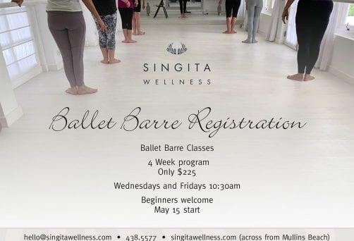 Ballet Barre 4 week registration, starts 22 May 2019
